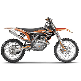 2014 Factory Effex EVO 11 Graphics - KTM - 2010 KTM 450EXC Factory Effex All-Grip Seat Cover