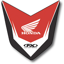 2014 Factory Effex Front Fender Decal - Honda - 2010 Honda CRF450R Factory Effex TC-4 Seat Cover With Bump - Honda