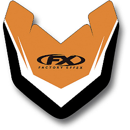 2014 Factory Effex Front Fender Decal - KTM - 2013 KTM 350XCF Factory Effex All-Grip Seat Cover