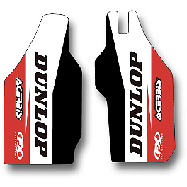 2014 Factory Effex Fork Guard Graphics - Honda - 2010 Honda CRF450R Factory Effex TC-4 Seat Cover With Bump - Honda