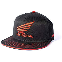 Factory Effex Honda Wing Flexfit Hat - Icon Lightning Flatbill Hat