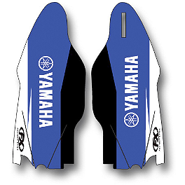 2014 Factory Effex OEM Lower Fork Graphics - Yamaha - 2013 Yamaha YZ450F Cycra Fork Guards - Blue