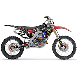 2014 Factory Effex Monster Energy Graphics - Honda - 2010 Honda CRF450R Factory Effex TC-4 Seat Cover With Bump - Honda
