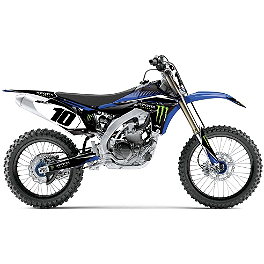 2014 Factory Effex Monster Energy Graphics - Yamaha - 2013 Yamaha YZ125 Factory Effex FP1 Seat Cover - Black