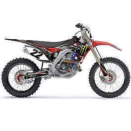 2014 Factory Effex Monster Energy Complete Shroud / Trim Kit - Honda - 2008 Honda CRF450R Factory Effex All-Grip Seat Cover