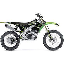 2014 Factory Effex Monster Energy Graphics Kit - Kawasaki - 2004 Kawasaki KLX110 Factory Effex All-Grip Seat Cover