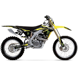 2014 Factory Effex Monster Energy Complete Shroud / Trim Kit - Suzuki - 2010 Suzuki RMZ450 Factory Effex All-Grip Seat Cover