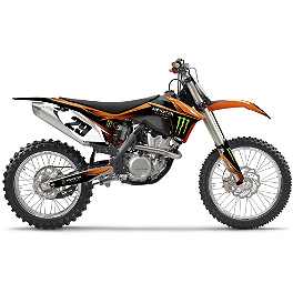 2014 Factory Effex Monster Energy Complete Shroud / Trim Kit - KTM - 2013 KTM 450SXF Factory Effex All-Grip Seat Cover
