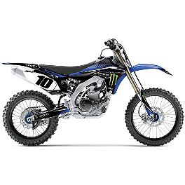 2014 Factory Effex Monster Energy Complete Shroud / Trim Kit - Yamaha - 2011 Yamaha YZ450F Factory Effex All-Grip Seat Cover