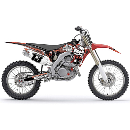 2014 Factory Effex Metal Mulisha Graphics - Honda - 2008 Honda CRF250R Factory Effex TC-4 Seat Cover With Bump - Honda