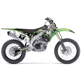 2014 Factory Effex Metal Mulisha Graphics - Kawasaki - 2011 Kawasaki KX450F Factory Effex All-Grip Seat Cover