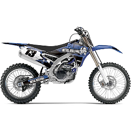 2014 Factory Effex Metal Mulisha Graphics - Yamaha - 2012 Yamaha YZ125 Factory Effex All-Grip Seat Cover