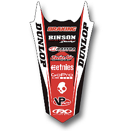 2014 Factory Effex Rear Fender Decal - Honda - 2013 Honda CRF250R Factory Effex TC-4 Seat Cover With Bump - Honda