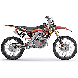 2014 Factory Effex Rockstar Graphics - Honda - 2007 Honda CRF450R Factory Effex TC-4 Seat Cover With Bump - Honda