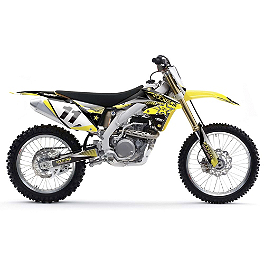 2014 Factory Effex Rockstar Complete Shroud / Trim Kit - Suzuki - 2008 Suzuki RMZ450 Factory Effex DX1 Backgrounds Pro - Suzuki