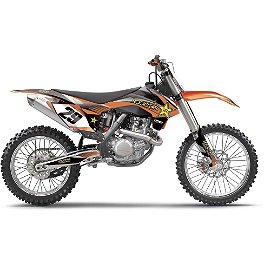2014 Factory Effex Rockstar Complete Shroud / Trim Kit - KTM - 2014 One Industries FMF Graphic Kit - KTM