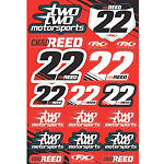 Factory Effex Chad Reed Two Two Motorsports Sticker Sheet - Motocross Graphics & Dirt Bike Graphics