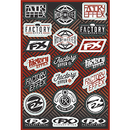 Factory Effex Logo Sticker Sheet - 1989 Kawasaki KX500 Factory Effex All-Grip Seat Cover