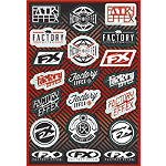 Factory Effex Logo Sticker Sheet - Dirt Bike Parts And Accessories