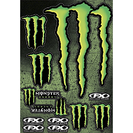 Factory Effex Monster Energy Sticker Sheet - 1997 Kawasaki KX125 Factory Effex All-Grip Seat Cover