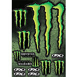 Factory Effex Monster Energy Sticker Sheet - Factory Effex Utility ATV Body Parts and Accessories