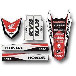 2014 Factory Effex Standard Trim Kit - Honda - 2010 Honda CRF450R Factory Effex TC-4 Seat Cover With Bump - Honda