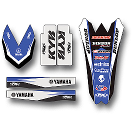 2014 Factory Effex Standard Trim Kit - Yamaha - 2013 Yamaha YZ450F Cycra Fork Guards - Blue