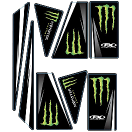 Factory Effex Universal Quad Trim Decals - Monster Energy - 2006 Yamaha RAPTOR 700 Factory Effex All-Grip ATV Seat Cover