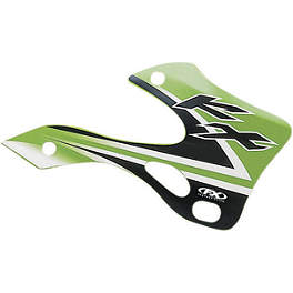 Factory Effex OEM Graphics 02 Kawasaki - 2013 Factory Effex Fork Guard Graphics - Kawasaki