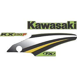 Factory Effex OEM Graphics 05 Kawasaki - 2007 Kawasaki KX250 Factory Effex All-Grip Seat Cover