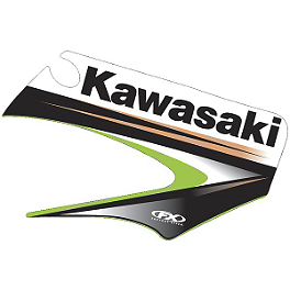 Factory Effex OEM Graphics 03 Kawasaki - 2007 Kawasaki KX100 Factory Effex All-Grip Seat Cover