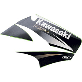 Factory Effex OEM Graphics 04 Kawasaki - 2009 Kawasaki KX85 Factory Effex All-Grip Seat Cover