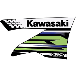 Factory Effex OEM Graphics 12 Kawasaki - 2009 Kawasaki KX450F 2013 Factory Effex Rear Fender Decal - Kawasaki
