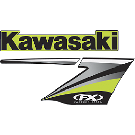 Factory Effex OEM Graphics 10 Kawasaki - 2009 Kawasaki KX450F Factory Effex All-Grip Seat Cover