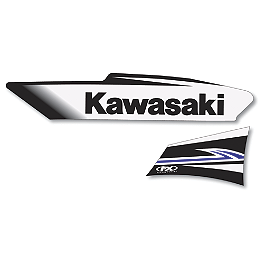 Factory Effex OEM Graphics 11 Kawasaki - 2009 Kawasaki KX450F 2013 Factory Effex Rear Fender Decal - Kawasaki