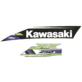 Factory Effex OEM Tank / Shroud Graphics - Kawasaki - 2013 Kawasaki KX250F Factory Effex DX1 Backgrounds Pro - Kawasaki