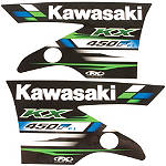 Factory Effex OEM Tank / Shroud Graphics - Kawasaki - Factory Effex Dirt Bike Parts