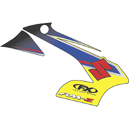 Factory Effex OEM Graphics 09 Suzuki - 2008 Suzuki RMZ250 Factory Effex All-Grip Seat Cover