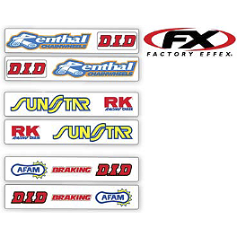 Factory Effex Swingarm Decals - 2013 Factory Effex Generic Fork / Swingarm Stickers - Dunlop