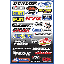 Factory Effex Sponsor Kit A - 2013 One Industries Helmet Logos Decal Sheet