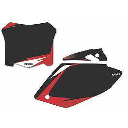 2013 Factory Effex Number Plate Backgrounds Honda - Black - 2013 Honda CRF250R Factory Effex FP1 Seat Cover - Black