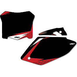 Factory Effex Pre-Cut Number Plate Backgrounds Honda - Black - 2013 Honda CRF450R Factory Effex DX1 Backgrounds Hot Wheels - Honda
