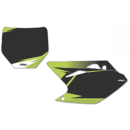 2013 Factory Effex Number Plate Backgrounds Kawasaki - Black - 2009 Kawasaki KX250F Factory Effex All-Grip Seat Cover