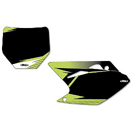 Factory Effex Pre-Cut Number Plate Backgrounds Kawasaki - Black - 2013 Kawasaki KX250F Factory Effex DX1 Backgrounds Pro - Kawasaki
