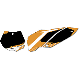 Factory Effex Pre-Cut Number Plate Backgrounds KTM - Black - 2014 KTM 250XC Factory Effex All-Grip Seat Cover