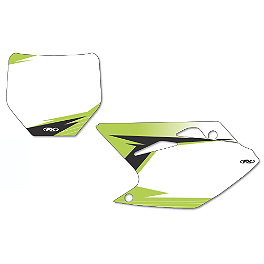 2013 Factory Effex Number Plate Backgrounds Kawasaki - White - 2011 Kawasaki KX250F Factory Effex FP1 Seat Cover - Black