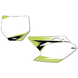 Factory Effex Pre-Cut Number Plate Backgrounds Kawasaki - White - 2013 Kawasaki KX450F Factory Effex FP1 Factory Pleated Gripper Seat Cover - Kawasaki