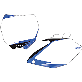 2013 Factory Effex Number Plate Backgrounds Yamaha - White - 2012 Yamaha YZ450F Factory Effex All-Grip Seat Cover