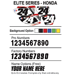 Factory Effex DX1 Backgrounds Elite- Honda - 2011 Honda CRF250R Factory Effex TC-4 Seat Cover With Bump - Honda