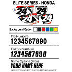 Factory Effex DX1 Backgrounds Elite- Honda - Custom Dirt Bike Graphics